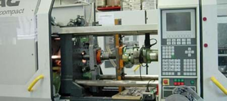 Drilling Work on an Injection Molding Machine