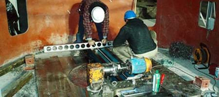 Milling of a Mill Foundation