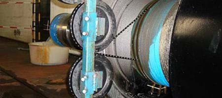 Cutting of a generator shaft's clutch with diamond band saw technology
