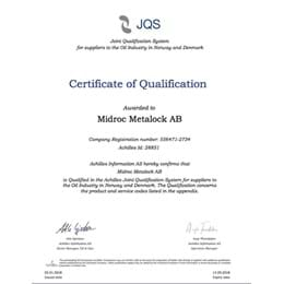 Achilles Certificate of Qualification