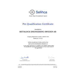 Sellicha Certificate of Pre-Qualification
