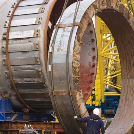 Metalock Engineering Photo - Assembly Tyre on Rotary Kiln