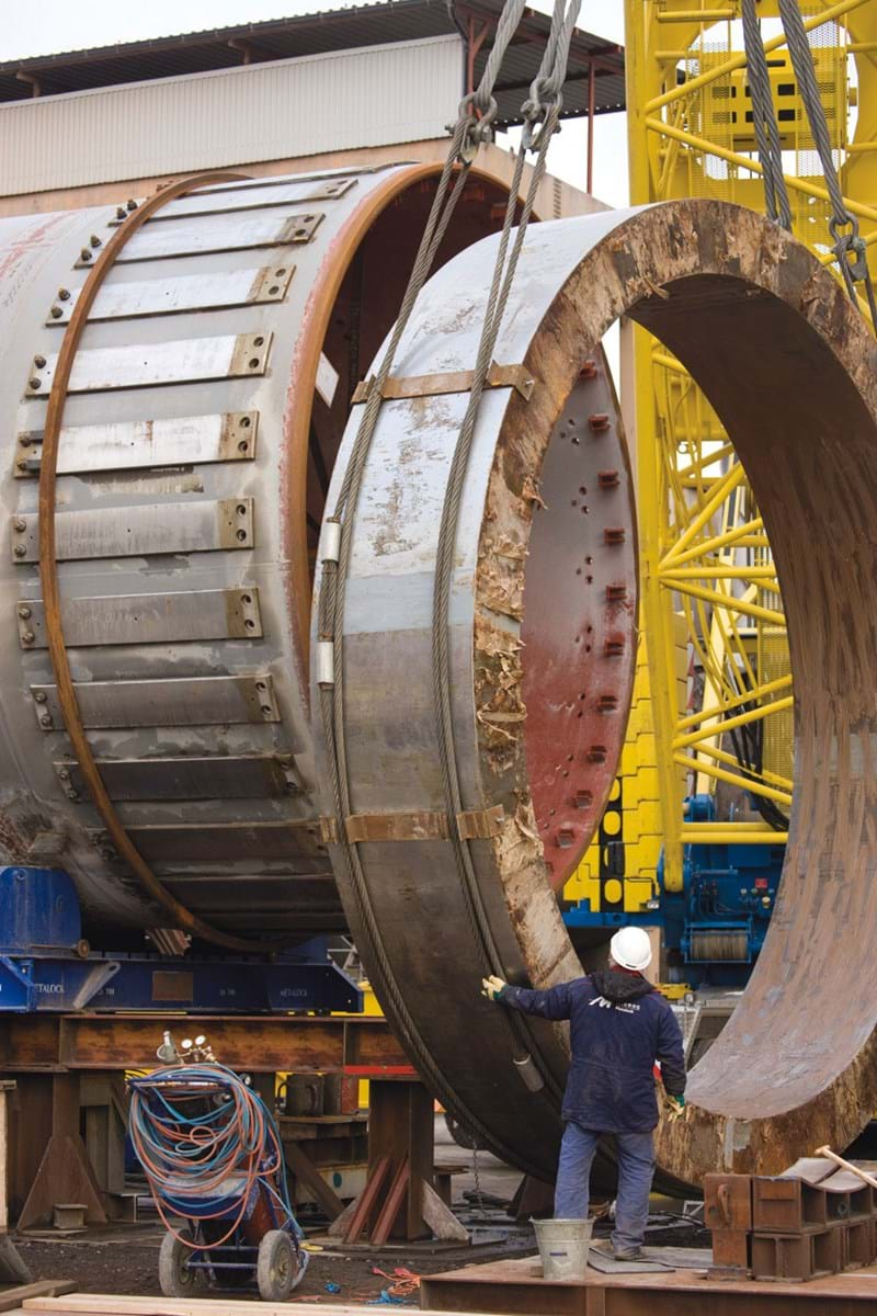 Assembly Tyre on Rotary Kiln