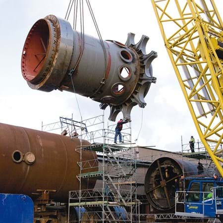 Metalock Engineering Photo - Rotary Kiln Installation