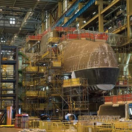 Metalock Engineering Photo - Submarine under construction