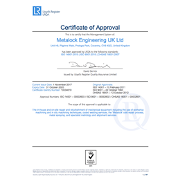 Lloyd's Register LRQA certificates